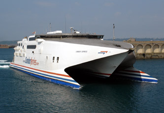 Condor Ferries fast ferry to Guernsey & Jersey