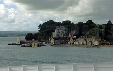 Brownsea Island from the Poole-Guernsey ferry