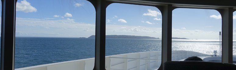 View of Sark from the Condor Liberation Ocean Plus lounge