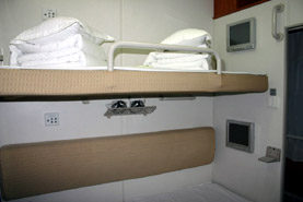 Soft sleeper, as used on 'Z' category trains from Beijing to Shanghai & Xian