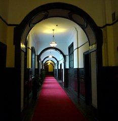 Astor House Hotel corridor.