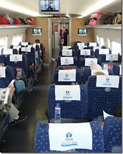 2nd class seats on the Beijing to Xian high-speed train