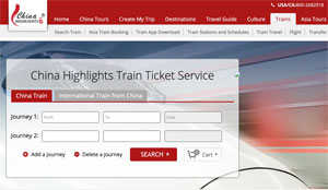 Buy train tickets for China through Chinahighlights.com
