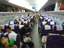 Soft seats on Beijing-Shanghai D category train