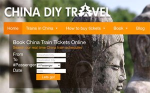 Buy train tickets for China through China DIY Travel