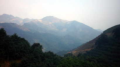 Mountains seen from the train to Kunming