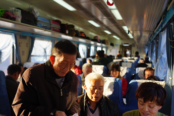 Hard seats on Hekou to Kunming train