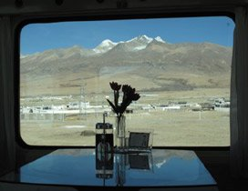View from the dining car, Beijing to Lhasa train