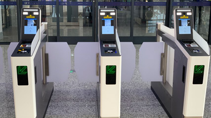 Chinese tciket gates with passport readers