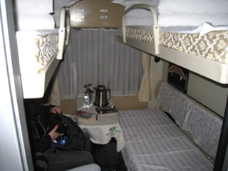 A 4-berth soft sleeper on train Z94 from Xian to Shanghai