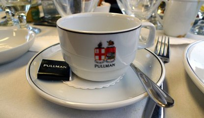 Pullman dining:  Coffee cup with the traditional Great Western crest