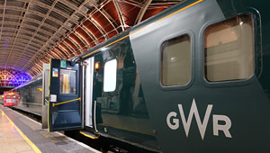 The Night Riviera sleeper train from London to Cornwall at Paddington