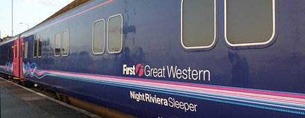 The Night Riviera sleeper train to Cornwall waits to leave London Paddington