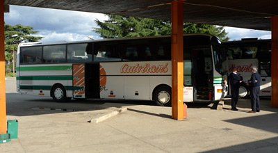 Bus at Porec bus station