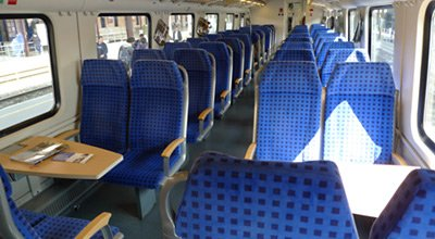 2nd class seats on the tilting ICN train from Zagreb to Split