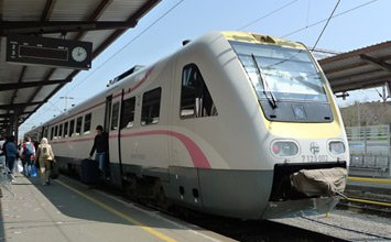 ICN train to Split at Zagreb station