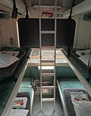 4-berth couchettes on Munich to Zagreb train