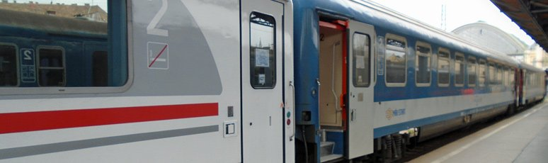 EuroCity train Rippl Ronai from Zagreb to Budapest