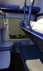 3-bed sleeper on the Zagreb-Split overnight train