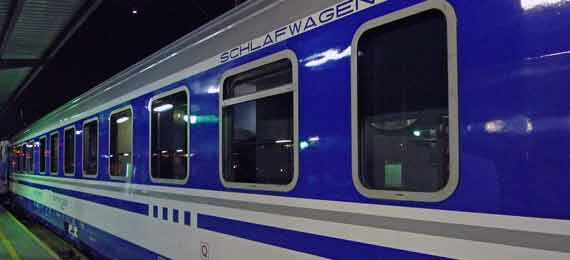 Refurbished sleeping-car on the Zagreb-Split overnight train