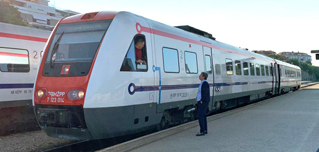 An ICN train Zagreb at Split station