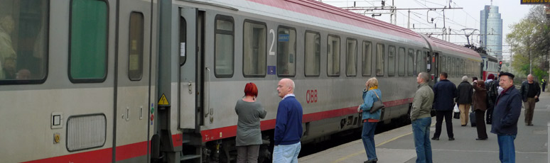The Croatia train from Zagreb to Vienna