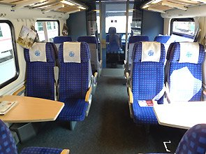1st class seats on the fast tilting ICN train from Zagreb to Split