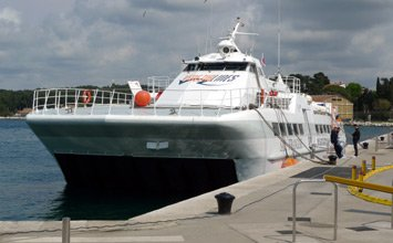 Venezia Lines fast ferry at Rovinj