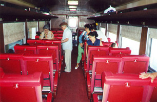 Comfortable seating in the railcar