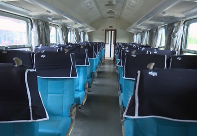 2nd class seats on the new Cuban trains