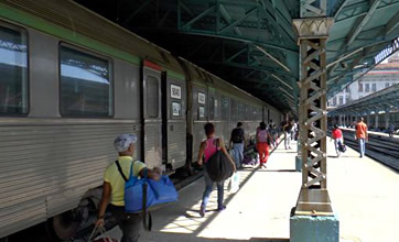 The French train from Santiago de Cuba, arrived at Havana