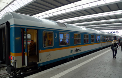 Best train options between prague and munich