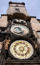 The clock in Prague's main square