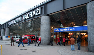 Prague's central Hlavni station