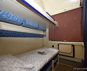 2-bed sleeper on the night train from Prague to Krakow