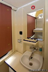 Washbasin in sleeper compartment