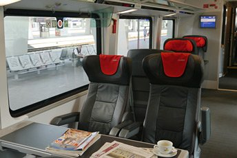 1st class seat on Cezh Railjet