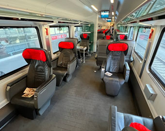 Business class on a Czech railjet train