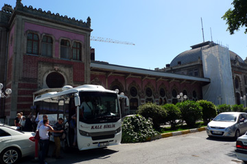 Transfer bus at Istanbul Sirkeci