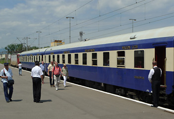 The Danube Express at Brasov in Romania