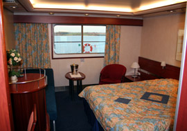Commodore Deluxe cabin on the 'Dana Sirena'