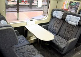Inside the InterCity train from Esbjerg to Copenhagen...