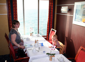 Ferry to Denmark:  The restaurant