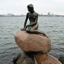 The Little Mermaind, Copenhagen.  Easy to reach by train & ferry!