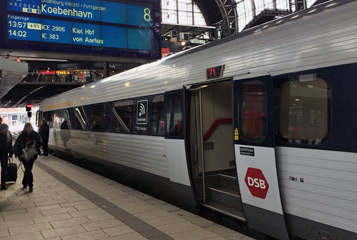 IC3 train to Copenhagen at Hamburg
