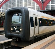 Danish InterCity train at Copenhagen...