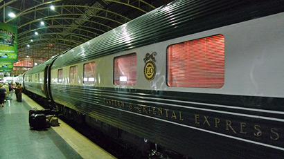The Eastern & Oriental Express arrives in Bangkok