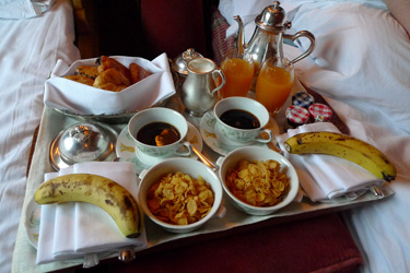 Breakfast on the Eastern & Oriental Express, served in your compartment