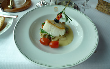 Lunch on the Eastern & Oriental Express:  Sea bass