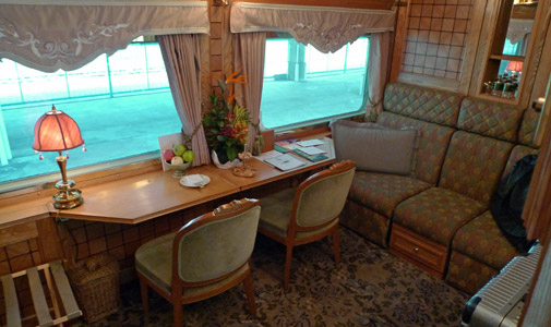Presidential suite on the Eastern & Oriental Express